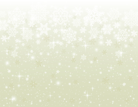 christams: beige background with snowflakes, vector Illustration