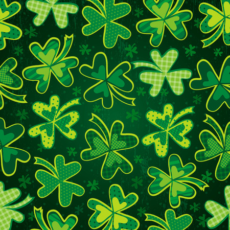 17th: green background for Patricks Day with clover