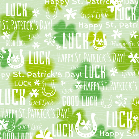 patricks day: grunge  background for Patricks day with shamrock, vector illustration