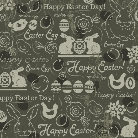Background with bunny Vector
