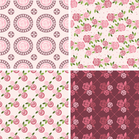 english rose: Floral Patterns and seamless backgrounds.