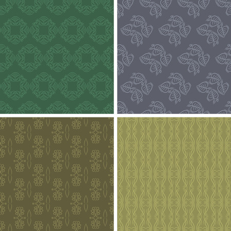 scrap: Patterns and seamless backgrounds. Ideal for printing onto fabric and paper or scrap booking Illustration