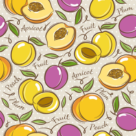 scrap booking: Background with apricot, plum and peach Ideal for printing onto fabric and paper or scrap booking.