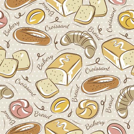 prin: Fondo con diferentes tipos de pan. Ideal para la impresión sobre tela y papel o chatarra de reserva Vectores