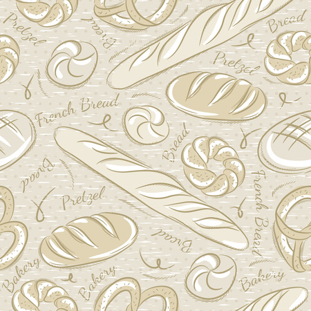 scrap booking: Background with different breads. Ideal for printing onto fabric and paper or scrap booking