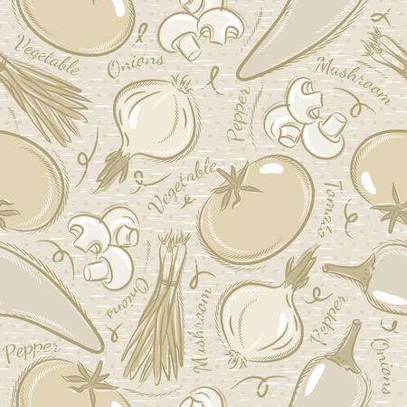onions: Background with  tomato, onions,  pepper. Ideal for printing onto fabric and paper or scrap booking.