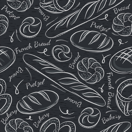 scrap: Black blackboard with different breads. Ideal for printing onto fabric and paper or scrap booking.