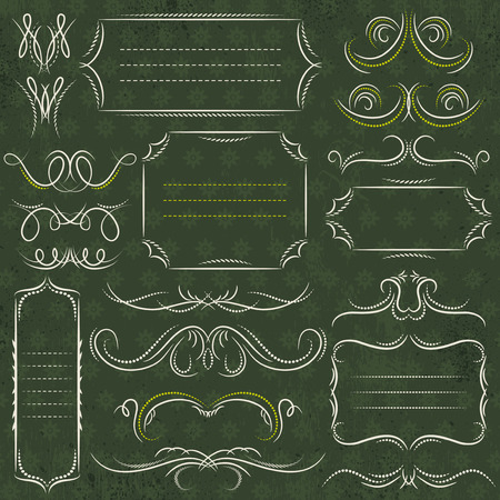 cenefas decorativas: Caligraf�a bordes decorativos, ornamentales reglas, divisores, vector