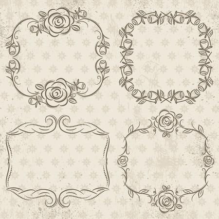 cenefas decorativas: Caligraf�a bordes decorativos con rosas