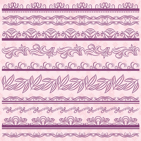 paper punch: Set of Lace Paper with flower over pink background
