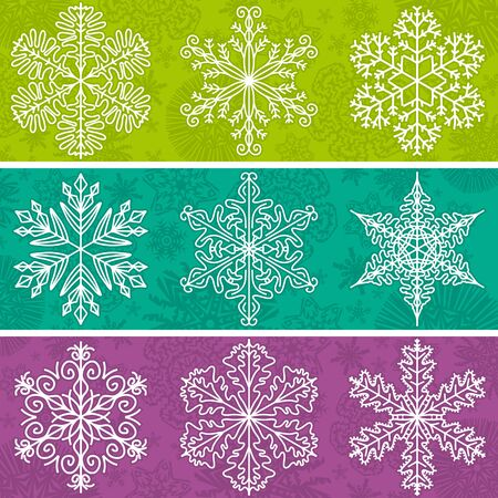 stile: Color  background with snowflakes line stile, vector illustration Illustration