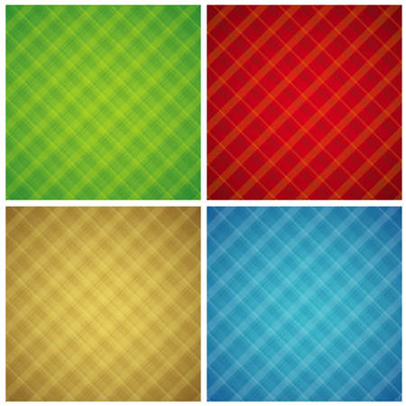 checked: Four color checked background, vector illustration