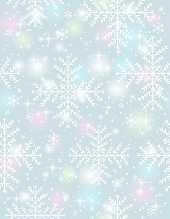 in vain: Grey background with  many snowflakes Illustration