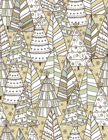 alder: christmas background with forest of christmas trees