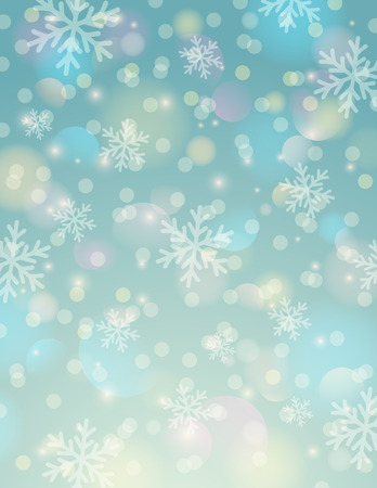 lustre: Blue background with snowflake and bokeh, vector illustration Illustration