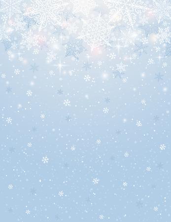 copo de nieve: fondo azul con copos de nieve, ilustraci�n vectorial