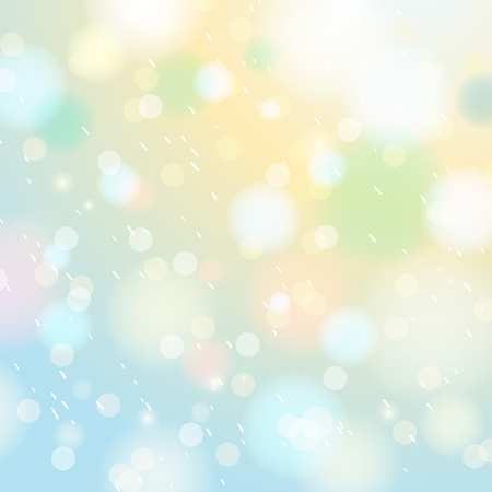 christams: Bright shine background with bokeh and snowflakes, vector illustration