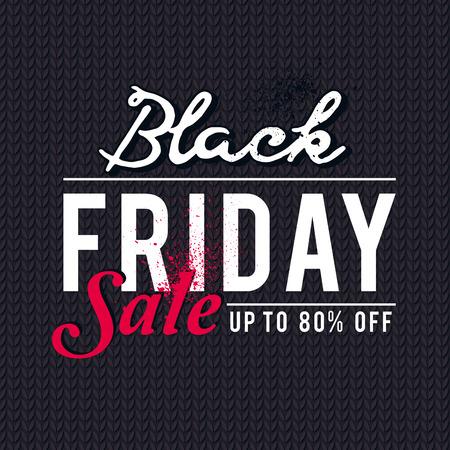 knitwear: Black friday sale banner on  knitwear background, vector illustration Illustration