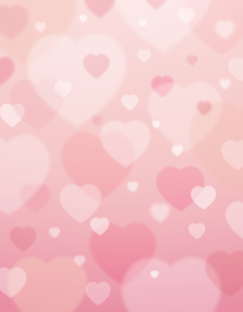 pink background with  valentine hearts ,  vector illustration Ilustração