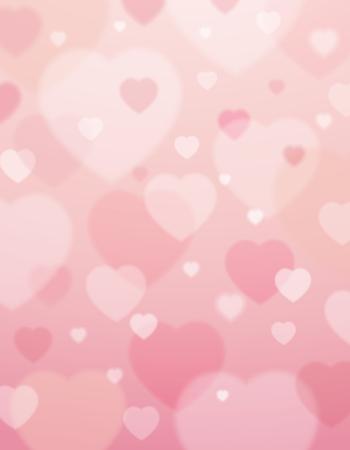 roze achtergrond met valentijn harten, vector illustratie