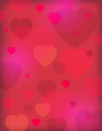pink background with valentine hearts, vector illustration