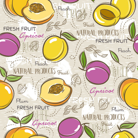 scrap: Background with apricot, plum and peach. Ideal for printing onto fabric and paper or scrap booking. Illustration