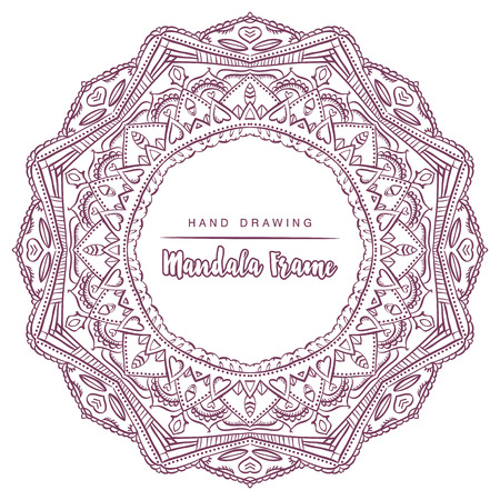 mystical: Vector mandala for coloring with floral decorative elements. Patterned Design Element, Coloring  book. Vector illustration.