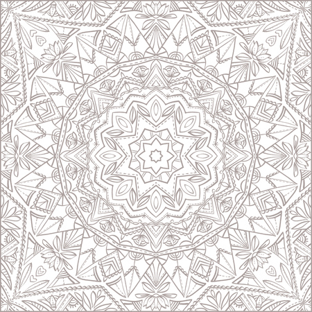 Vector mandala for coloring with floral decorative elements. Patterned Design Element, Coloring book. Vector illustration.