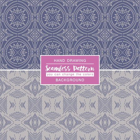 grey backgrounds: Grey backgrounds with seamless patterns. Ideal for printing onto  fabric and paper or scrap booking. Vector illustration