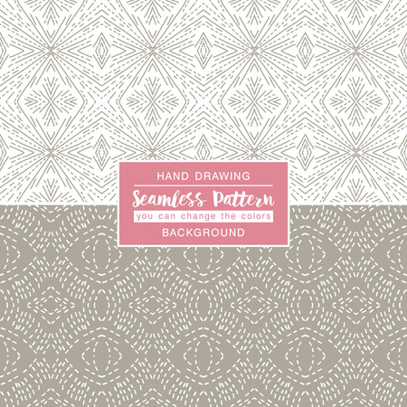 grey backgrounds: Grey backgrounds with seamless patterns. Ideal for printing onto fabric and paper or scrap booking. Vector illustration Illustration