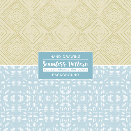 motives: Color backgrounds with seamless patterns. Ideal for printing onto fabric and paper or scrap booking. Vector illustration Illustration