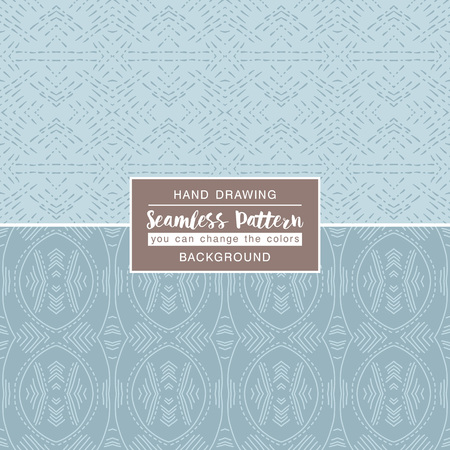scrap booking: Grey backgrounds with seamless patterns. Ideal for printing onto  fabric and paper or scrap booking. Vector illustration