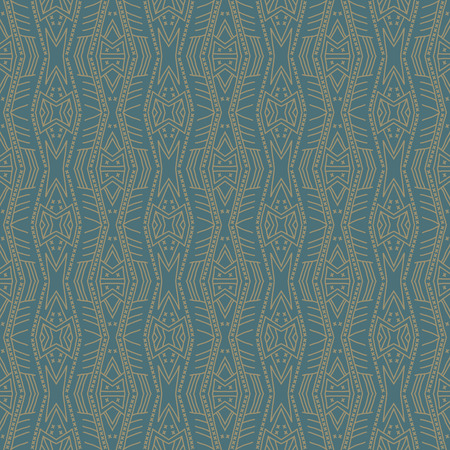vintage patterns: Green backgrounds with seamless patterns. Ideal for printing onto fabric and paper or scrap booking. Vector illustration