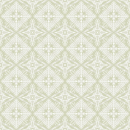 old fashioned: Beige christmas background with seamless pattern. Ideal for printing onto fabric and paper or scrap booking. Vector illustration Illustration