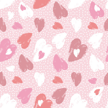 scrap booking: Pink  background with   valentine heart,  vector illustration Ideal for printing onto fabric and paper or scrap booking