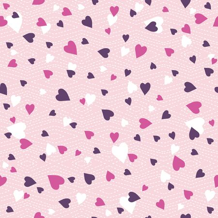 scrap booking: Pink  background with   valentine heart,  vector illustration. Ideal for printing onto fabric and paper or scrap booking