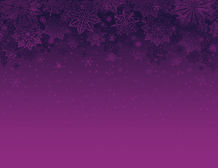 Purple christmas background with snowflakes and stars, vector illustration 向量圖像