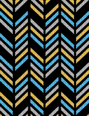 Black backgrounds with blue, golden and silver glittering diagonals, vector illustration