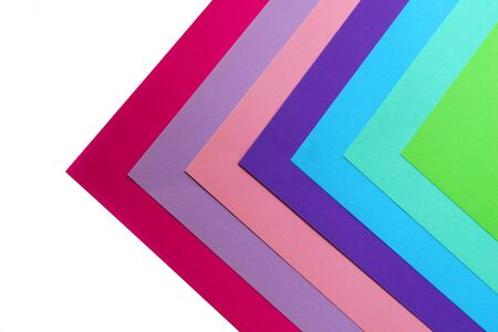 Geometric composition of several bright color sheets of paper. Suitable background for your design, presentation, brochure, web, banner, catalog, poster, book, magazine