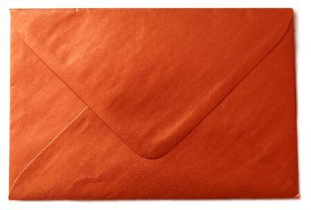 Red envelope isolated on white background. Shiny red envelopes.