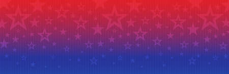 Web banner with elements of the American national flag, many stars. Decorative USA banner suitable for background, headers, posters, cards, website. Vector illustration