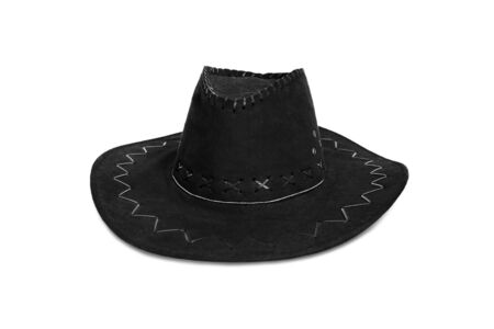 black hat: black cowboy hat Stock Photo