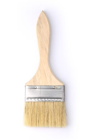 Paint brush isolated on a white background. 스톡 콘텐츠