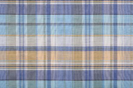 Fabric plaid texture. Cloth background.