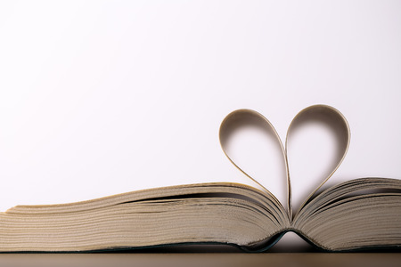 Heart Book Page Stock Photo