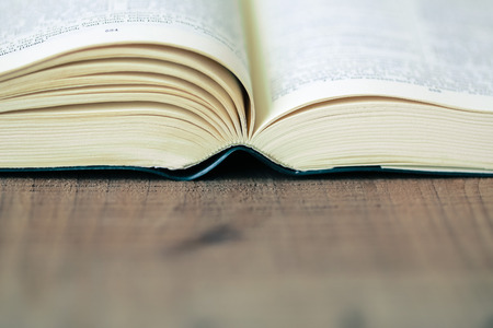 Close-up Shot Of Open Bible