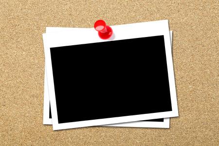 Photos on Cork Board