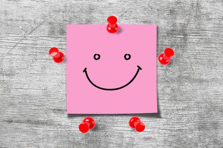 Happy Sticky Note 스톡 콘텐츠