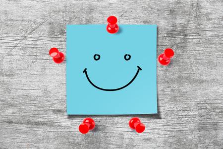 Happy Sticky Note Stock Photo