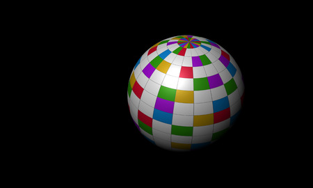 Colorful ball isolated on the black background. Stock Photo